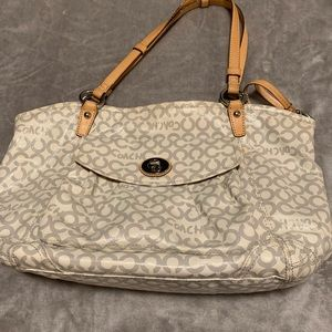 Coach 13142 Leah Coated Canvas bag